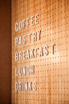 Abbots & Kinney - Picture gallery Cafe Interior Design, Cafe Design, Store Design, Bar Design Awards, Café Restaurant, Restaurant Design, Modern Restaurant, Signage Design, Menu Design