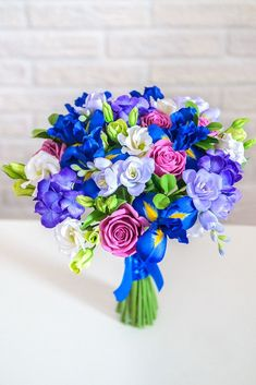 Iris Wedding Bouquet 2 bouquets long Iris Wedding Bouquet - Artificial Flowers Handmade With Love Iris Wedding Bouquet, Iris Bouquet, Blue Bouquet, Bouquet Flowers, Artificial Wedding Bouquets, Artificial Flowers, Prom Flowers, Wedding Flowers, Exotic Wedding