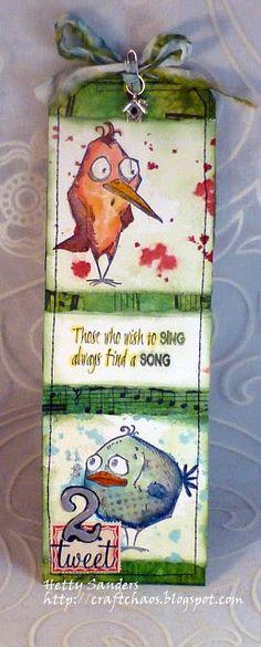 *{CraftChaos}*: Tim Holtz July Tag:Crazy Birds