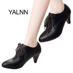 Fair price YALNN New Mature Wine Red Fashion Women Leather High heel Shoes Women Winter Office Lady High Heels Shoes Pumps for Girls just only $27.48 with free shipping worldwide  #womenshoes Plese click on picture to see our special price for you