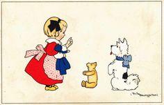 Fritz Baumgarten, Kind,Teddy,Hund, M+B Nr. 2230 | eBay