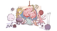 Gut Microbes Might Guide The Workings of Our Minds! Audio & Brilliant instructional Cartoon.