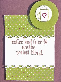 Coffee Lover Card Homemade and Unique One of a