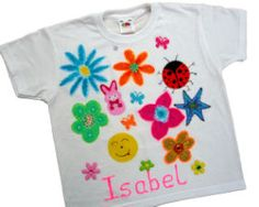 T-shirt painting.  Great craft party option.  DIY decorated top.