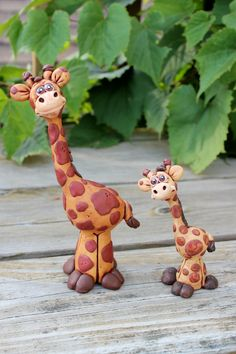 Giraffe Polymer Clay Sculpture by mirandascritters on Etsy, $40.00