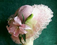 Items similar to Wide Brim Pink Lace Hat on Etsy Tea Hats, Tea Party Hats, Easter Hat Parade, Fascinator Hats, Fascinators, Victorian Hats, Hat Crafts, Easter Traditions, Wedding Hats
