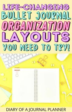 The life-changing bullet journal organization layouts you need to stay organized! #bulletjournallayouts #bujo #bulletjournaltemplates Bullet Journal Hacks, Bullet Journal Printables, Bullet Journal Layout, Bullet Journal Inspiration, Journal Organization, Weekly Planner Template, Journal Pages, Life Changing, Bujo