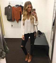 Hollie Woodward: When you find the perfect cream blouse for Fall