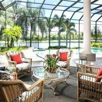 Screened Pool Patio Ideas Florida Home Decorating Lanai