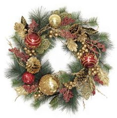 Tuscan Elegance Christmas Wreath - Silk Floral by TLG Creations