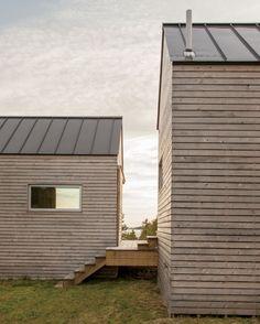 A trio of adorable cabins.
