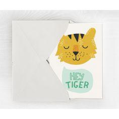Grande carte postale Hey Tiger