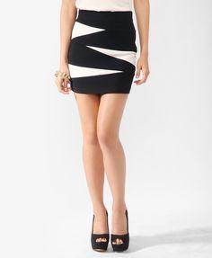 Asymmetrical Colorblock Skirt