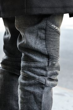 Denim biker pants | Raddest Looks On The Internet http://www.raddestlooks.net