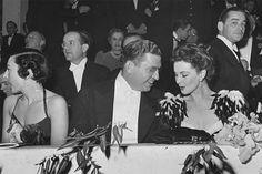 Vivien with David O. Selznick at the Junior League Ball in Atlanta.
