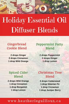 Using essential oils aromatically can influence feelings and uplift mood. This article will provide examples of holiday-inspired essential oil blends that you can use to create a walk-down-memory-lane in your own home this holiday season. #essentialoils #diffuser #holidays