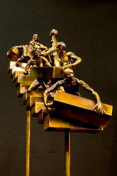 Progression bronze sculpture by John Ston