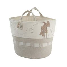 ONCE UPON A TIME STORAGE BASKET A stylish way to store all of your nursery items with this fabric storage bag featuring character appliqué and embroidery detail   #roomdecor