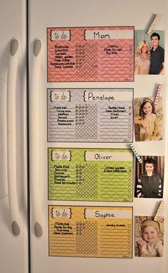 Family Organization, Fun Kid Organization, Child Chore Chart
