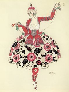 Untitled (1920) by French artist and illustrator George Barbier (1882-1932). via Matou en Peluche