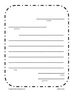 Friendly Letter Template - Language Arts Letter Writing Lesson ...
