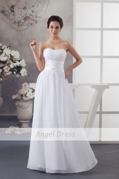 Long White Prom Dress/Long Prom Dresses/ White by angeldress2014, $110.00