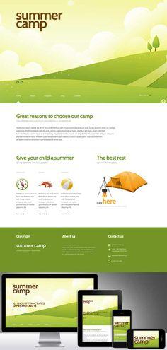 Nom : Summer Camp - CMS : WordPress - Designer : Jenny