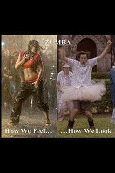 hehe.  but zumba is more fun than doing reps!  dance like there's a party in yo pants!