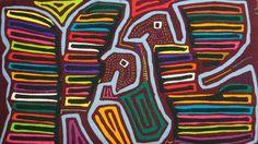 Kuna Mola Winged Warrior Bird Panama Art-3.ib2490