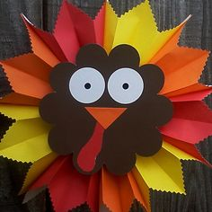 $7.00 hanging paper turkey decoration.. looks like an easy kid craft