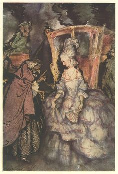 Arthur Rackham. From The Arthur Rackham Fairy Book. Published by Harrap. 1939 re-issue