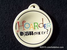 "2012 Fiesta® IVORY Post 86 ""Hoarder Dishorder"" Ornament ~ made by Homer Laughlin China 