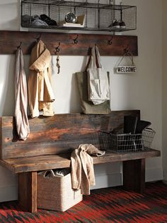 Entry Design Ideas, Pictures, Remodels and Decor...love the bench