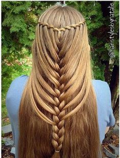 Waterfall mermaid braid look
