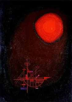 Wassily Kandinsky, Red sun and ship, 1925 Wassily Kandinsky, Paul Klee Art, Modernisme, Art Moderne, Art Abstrait, Architecture Art Design, Bauhaus, Geometric Art, Art Forms