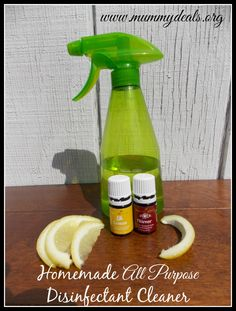 Homemade All Purpose Disinfectant from essential oils @Clair O'Neill @ Mummy Deals