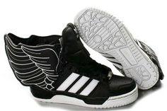 watch fde95 50520 A WoMen Adidas Jeremy Scott Originals Js Wings 2 black   white Cuero Negro,  Alas