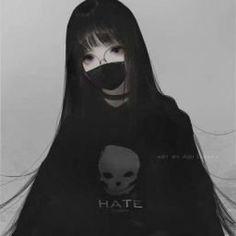 Dark Anime Girl, Emo Anime Girl, Pretty Anime Girl, Chica Anime Manga, Beautiful Anime Girl, Anime Neko, Kawaii Anime Girl, Otaku Anime, Manga Girl