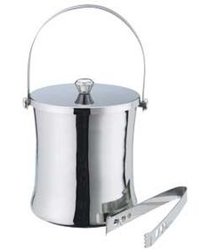 Living Hour Glass Ice Bucket and Tongs.