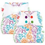 Lovelace Print Flip Nappy Cover with Stay Dry or Organic Insert