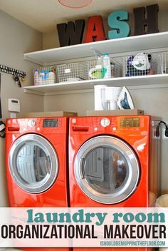 Get your laundry room organized with some simple tips and ideas.