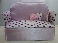 Como fazer sofá para Barbie