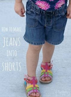 Make kids jeans into cute shorts while keeping the original hem! Also great for altering jeans that are too long.