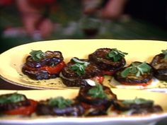 Roasted Eggplant and Tomato Stacks from FoodNetwork.com. These were good. a little dry.