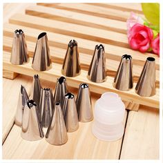 14pcs Nozzles Pastry Tube 1 Link Conversion Cake Cream Mounting Patterns Tool #>=#>=#>=#>=#> Click on the pin to check out discount price, color, size, shipping, etc. Save and like it!