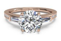 Tapered Baguette Diamond Band Engagement Ring – 3051
