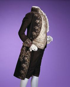 1790 France.  Gorgeous embroideries as well as expensive laces used for jabots and cuffs, and buttons, one of the important fashionable items, were essential to finish the appearance of the chic men of the Rococo period.