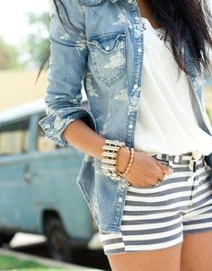 Fashion shorts accessories blouse