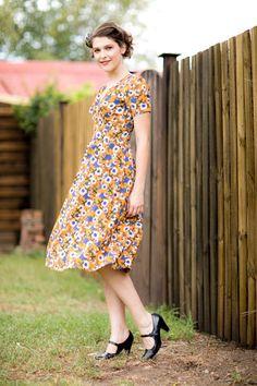Bluebell Mustard Daisy Dress