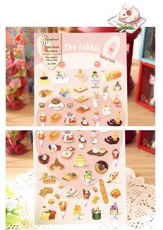 mini Rabbit sticker Kawaii white rabbit food by StickersKingdom